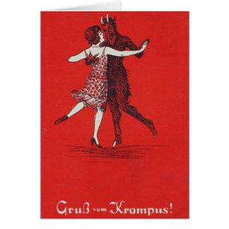¡Saludos de Krampus! Tarjeta De Felicitación