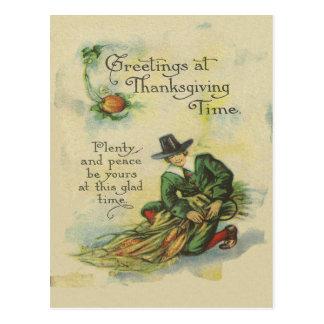 Saludos de la acción de gracias del peregrino postal