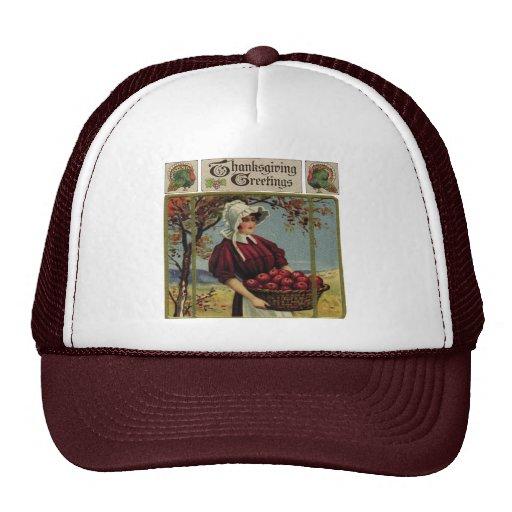 Saludos de la acción de gracias del vintage gorras de camionero