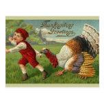 Saludos de la acción de gracias postales