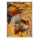 Saludos de la acción de gracias tarjeta de felicitación