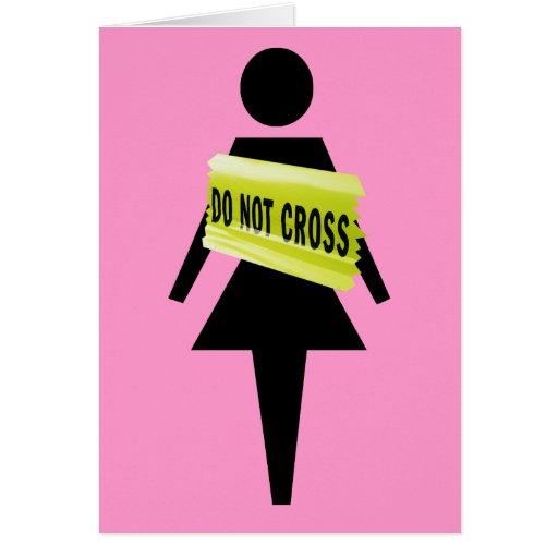 Saludos de la actitud de las mujeres tarjeta de felicitación