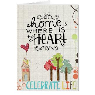 saludos de la adopción tarjeta de felicitación