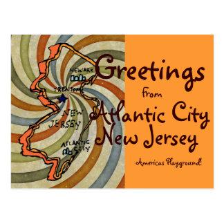 Saludos de la CA New Jersey Tarjeta Postal