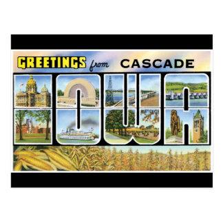 Saludos de la cascada tarjeta postal