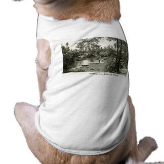 Saludos de la ciudad de Boyne, MI. Pesca de la tru Camisa De Perrito