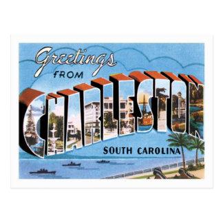Saludos de la ciudad de Charleston Carolina del Postal