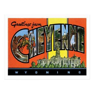 Saludos de la ciudad de Cheyenne Wyoming los Postal