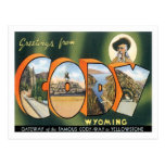 Saludos de la ciudad de Cody Wyoming los E.E.U.U. Tarjeta Postal