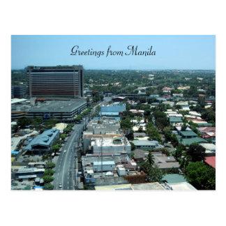 saludos de la ciudad de Manila Tarjetas Postales