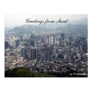 saludos de la ciudad de Seul Postal