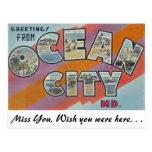 Saludos de la ciudad del océano, Maryland