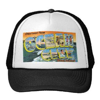 ¡Saludos de la ciudad del océano, New Jersey! Gorra