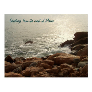 Saludos de la costa de Maine Postal