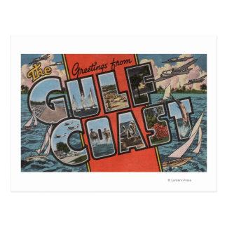 Saludos de la Costa del Golfo Tarjetas Postales