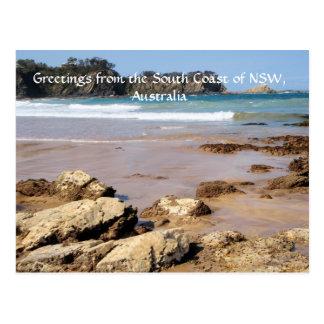 Saludos de la costa sur de NSW Tarjetas Postales