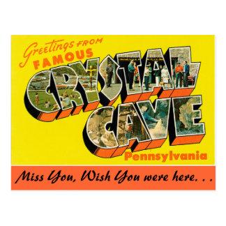 Saludos de la cueva cristalina tarjetas postales