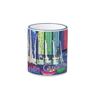 Saludos de la estación taza de dos colores