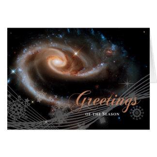 Saludos de la estación - telescopio espacial de Hu Tarjeta De Felicitación