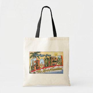 "Saludos de la Florida ""la tierra de la sol"", Vin Bolsa Tela Barata"