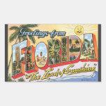 """Saludos de la Florida """"la tierra de la sol"""", Vin Rectangular Altavoz"""