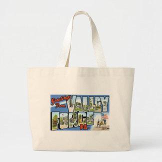 ¡Saludos de la fragua del valle, Pennsylvania! Bolsa Tela Grande