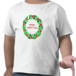 Saludos de la guirnalda - camiseta del niño