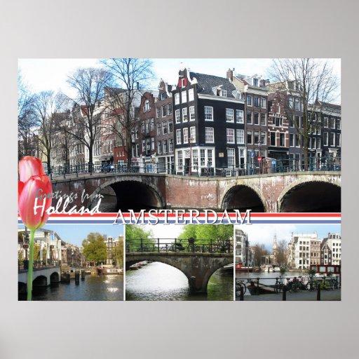 Saludos de la impresión del poster de Holanda - de
