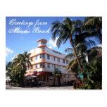 Saludos de la impulsión del océano en Miami Beach Tarjetas Postales