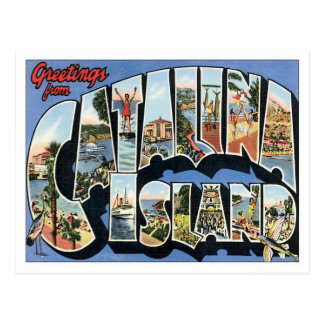 Saludos de la isla California de Catalina Tarjeta Postal