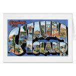 Saludos de la isla de Catalina, California retra Felicitación