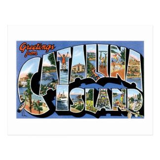 Saludos de la isla de Catalina, California retra Tarjeta Postal