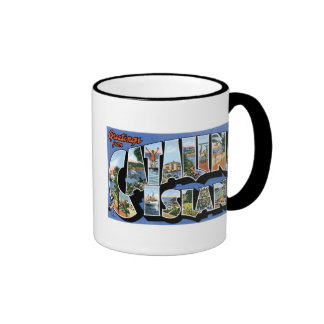 Saludos de la isla de Catalina, California Taza De Dos Colores