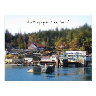 Saludos de la isla de las orcas tarjeta postal