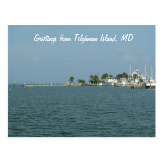 Saludos de la isla de Tilghman, MD Postales