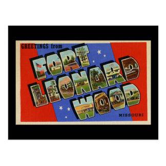 Saludos de la madera Missouri de Leonard del fuert Postal
