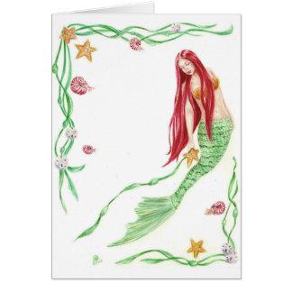 Saludos de la marea de Yule por el arte de Deanna Felicitación