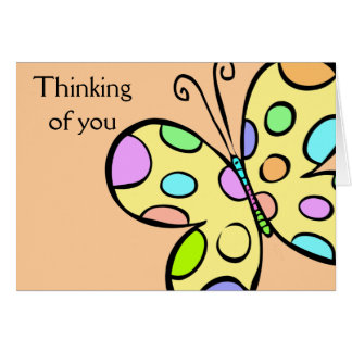 Saludos de la mariposa tarjetas