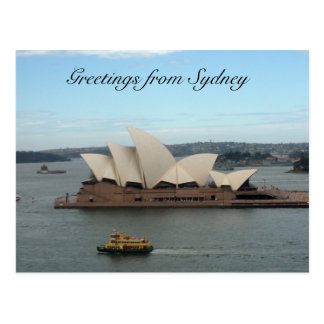 saludos de la ópera de Sydney Tarjetas Postales