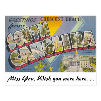 Saludos de la playa creciente, Carolina del Sur Postales