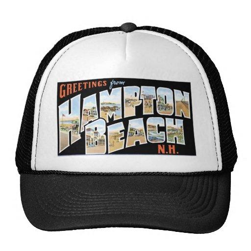¡Saludos de la playa de Hampton, New Hampshire! Gorras De Camionero