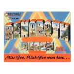 Saludos de la playa de Rehoboth Postal