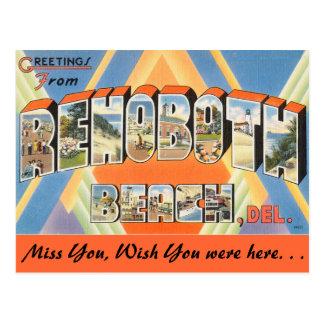 Saludos de la playa de Rehoboth Tarjeta Postal