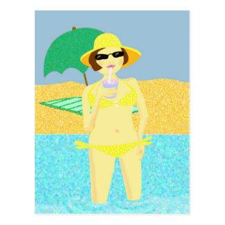 Saludos de la playa postal