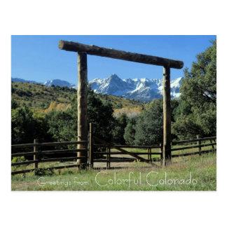 Saludos de la postal colorida de Colorado