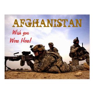 Saludos de la postal de Afganistán