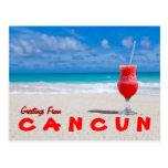 Saludos de la postal de Cancun
