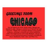 Saludos de la postal de Chicago