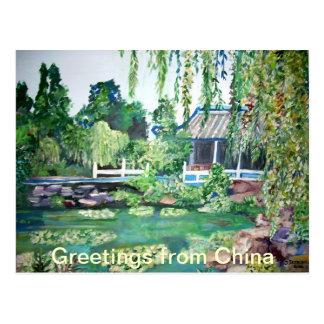 Saludos de la postal de China