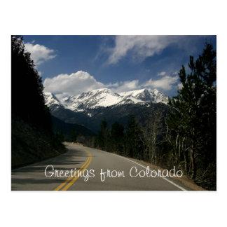 Saludos de la postal de Colorado